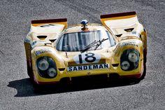 Gils Van Lennep (Holland) thunders into the corkscrew in his 1969 Porsche 917