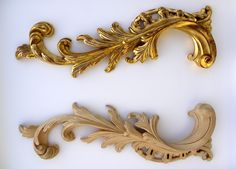 wooden carved ROCCOCO scrolls with gilding, featured on doorways, frames, fireplaces, furniture in the 18th century #rococo