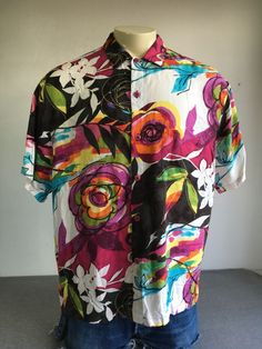 59ad12533 Rayon Floral Regular Size L Hawaiian Casual Shirts for Men