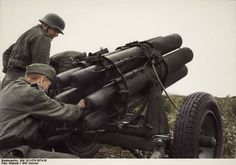 Nebelwerfer being loaded during the Summer of 1942