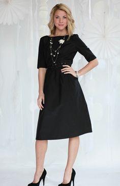 """Jackie"" Modest Dress in Black 2011 Version"
