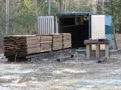 Camara Container para secado de madera.