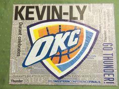 OKC Thunder on Etsy, $25.00