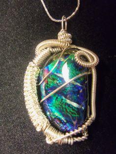 Dicrilic Glass wire wrap Wire Wrapping, Pendant Necklace, Creative, Glass, Jewelry, Fashion, Moda, Jewlery, Drinkware