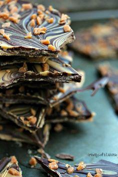 Chocolate and Peanut Butter Bark - #chocolatebark #dessert #foodporn #Dan330 http://livedan330.com/2014/11/03/chocolate-peanut-butter-bark/