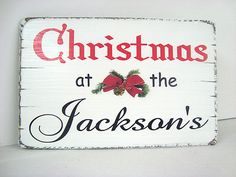 Christmas sign, personalised