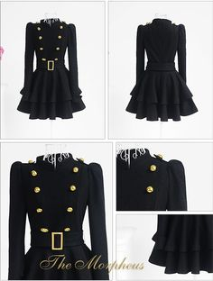 double layered black coat.  cute!  reminds me of the volturi from the twilight saga.