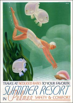 William P. Welsh - Advertisement Art Deco Summer Resort