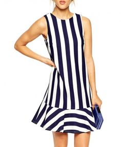 love this blue and white stripe dress only $19