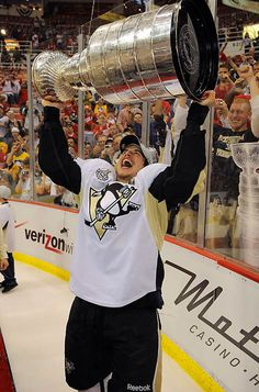 Sidney Crosby, youngest captain to hoist the Stanley Cup, 2009
