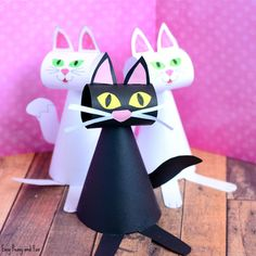We do love a good cat craft idea here at Easy Peasy and Fun! Grab this paper cat craft template and make an army of little kitty cats. Adorable. This craft idea is perfect for the spooky time of the year, but as cats are awesome all year round this one will be a fun …