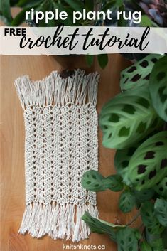 Make your own boho coaster/plant rug using a simple stitch and any yarn you have on hand. Beginner friendly! Crochet Stitches Free, Crochet Pillow Pattern, Afghan Crochet Patterns, Crochet Chart, Knitting Patterns Free, Free Crochet, Yarn Projects, Crochet Projects, Crochet Home Decor