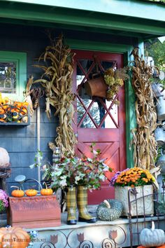 A Watering Can Welcome and Welcome November   homeiswheretheboatis.net #pottingshed