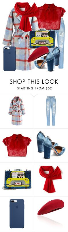 """""""Saturday outfit"""" by subvilli on Polyvore featuring Chicwish, Amapô, N°21, Aquazzura, Karl Lagerfeld, Lacoste, Apple and Fivestory"""