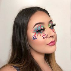 51 Creepy And Cool Halloween Makeup Ideas To Try In 2019 - Page 9 of 31 - Easy Hairstyles Cool Makeup Looks, Glam Makeup Look, Glamour Makeup, Crazy Makeup, Gorgeous Makeup, Dead Gorgeous, Edgy Makeup, 90s Makeup, Kawaii Makeup