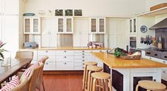 Dream Homes | Country Home Ideas | The Country Lifestyle Magazine Paint for cupboards and walls is Dulux Stowe White