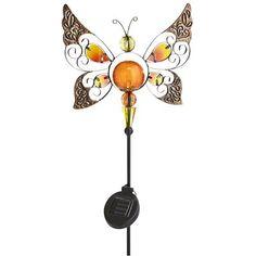 LED Solar Butterfly Garden Stake