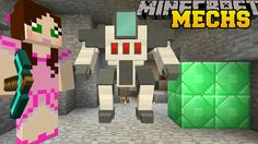 Minecraft: MINING MECHS CHALLENGE! (MINING, DIGGING, ROCKETS, & SELF DESTRUCTING) Custom Command - YouTube
