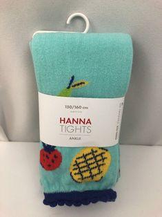 New Hanna Ankle Tights 150/160 cm US 12 Girls Footless Fruit Andersson Summer #HannaAndersson #AnkleFootlessTights