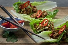 San Choy Bau | Australian Flavours.    A version of this Chinese starter which balances the traditional flavours with the clean crunch of the fresh lettuce.  Recipe: http://australianflavours.com.au/recipes/san-choy-bau/  Photographer: http://www.btphotography.com.au  #food #recipes #myphotographer