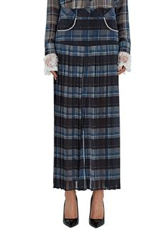 Women's Skirts - Clothing | Order Now at LN-CC - Juliett Checked Pleat Georgette Skirt