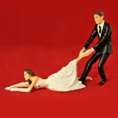 Hahaha! Reluctant Bride Cake Topper now featured on Fab.