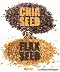Chia Seeds vs. Flax Seeds. Has comparison chart. I like chia better. I don't like the taste of flax.