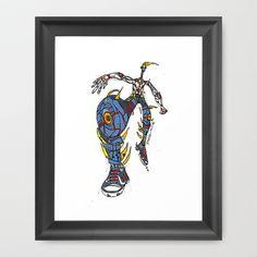 BigLeg Framed Art Print by Maccu Maccu - $32.00