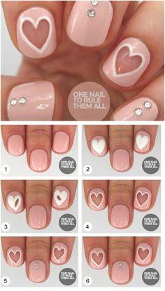 Heart Nail Art Design Ideas 16