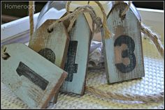 DIY Nautical Hang Tags~ Great idea for hostess gift( wine bottle tags )