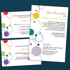 Rainbow Building Blocks Wedding Invitations Custom Listing for