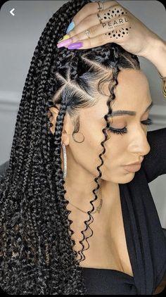 Feed In Braids Hairstyles, Girls Natural Hairstyles, Black Girl Braids, Braided Hairstyles For Black Women, Braided Hairstyles Updo, Braids For Black Women, Braids For Black Hair, Protective Hairstyles, School Hairstyles