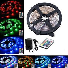 This product features a full package that allows you to stick the 16ft long light strip to anywhere of your choosing and remotely control the color and flash mode of the light emitted by its 300 RGB (Red, Green & Blue) LED bulbs. The...