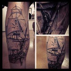 Full sail ship