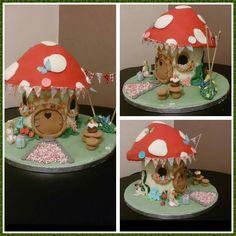 Fairy toadstool birthday cake