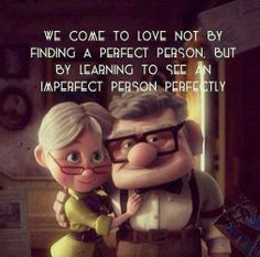 Seeing an imperfect person perfectly.