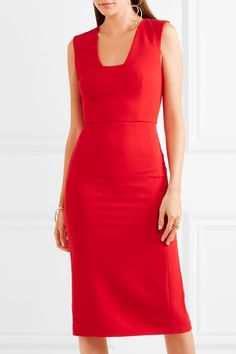 Antonio Berardi - Stretch-cady Dress - Red - IT48