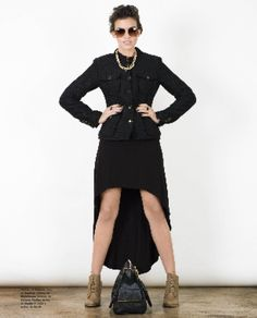 Military Style - Revista J #Dress #Asymmetric #JockeyPlaza #Dark #Style