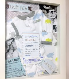 Baby's Keepsakes - shadow boxes from /westcoast baby boy girl keepsake shadowbox newborn collage birth announcement photos Baby Pictures, Baby Photos, Newborn Photos, Newborn Shadow Box, Baby Shadow Boxes, Baby Boys, Shower Bebe, Baby Memories, Baby Keepsake