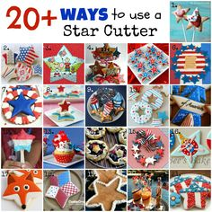20+ Ways To Use a Star Cutter  http://www.cookiecrazie.com/2012/06/20-ways-to-use-star-cutter.html#