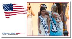 Miss Jr Teen California United States Lilliana R. being crowned