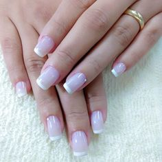 Dicas para fazer unhas francesinhas perfeitas Cute Nails, My Nails, Nail Ring, Coco, Nail Designs, Nail Art, Tattoos, Simple, Pink