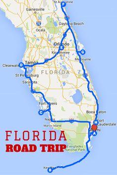 FLORIDA ROAD TRIP MAP & ITINERARY
