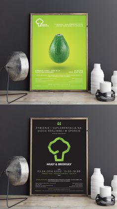 Creative posters, Muły&Brokuły vege blog