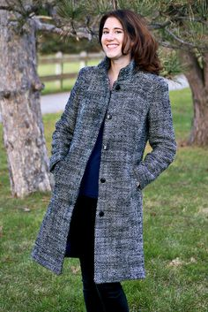 An Oscar De La Renta Coat – Butterick 6385 #sewing #coatsewing #tailoring #madewithmood