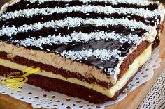 Jestem bardzo ukontentowana i zadowolona z siebie, jeśli chodzi o to ciasto, rzecz jasna. Smak czekolady, budyniu i aksamitnego kremu orzech...