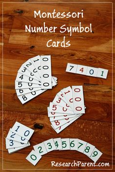Montessori Number Symbol Cards - Help Your Child Learn to Recognize and Understand Written Numbers - ResearchParent.com