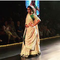 #Gaurang presents #Vrindavan. #LakmeFashionWeek #GaurangShah #IndianClothes #IndianTextiles #VayaWeavingHeritage