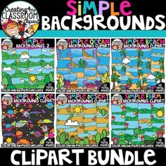 Simple Backgrounds Clipart Bundle {Backgrounds... by Creating4 the Classroom | Teachers Pay Teachers