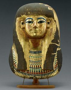 *EGYPT ~ Mummy Mask of Queen Tuyu This gilded-pasteboard mask found in her tomb immortalizes Queen Tuyu, King Tutankhamun's great-grandmother.